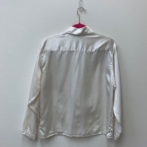 Vintage Tops - VINTAGE cream off white button down blouse